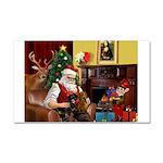 Santa/Two Dachshunds (BB) Car Magnet 20 x 12
