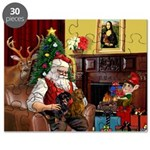 Santa/Two Dachshunds (BB) Puzzle