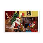 Santa/Two Dachshunds (BB) Rectangle Car Magnet