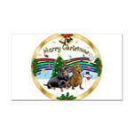 XmasMusic1/2 Dachshunds Rectangle Car Magnet