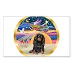 XmasStar/Dachshund LH Sticker (Rectangle)