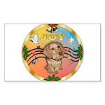 XmasMusic2/Dachshund (WH)#11 Sticker (Rectangle 10