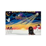 XmasSunrise/Dachshund (LH) Rectangle Magnet (10 pa