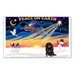 XmasSunrise/Dachshund (LH) Sticker (Rectangle)
