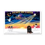 XmasSunrise/Dachshund (LH) Rectangle Car Magnet
