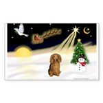 NIGHT FLIGHT<br>&Dachshund LH Sticker (R
