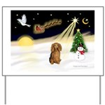 NIGHT FLIGHT<br>&Dachshund LH Yard Sign