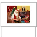 Santa's Dachshund (WH) Yard Sign