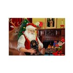 Santa's Dachshud (LH) Rectangle Magnet (10 pack)