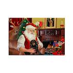 Santa's Dachshud (LH) Rectangle Magnet
