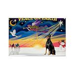 XmasSunrise/Dobbie #1 Rectangle Magnet (10 pack)