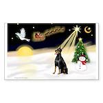 Night Flight/Dobie #1 Sticker (Rectangle 50 pk)