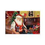 Santa's 2 Dobermans Rectangle Magnet (10 pack)