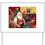 Santa's 2 Dobermans Yard Sign