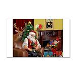 Santa's Dobie (Bz) Car Magnet 20 x 12