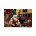 Santa's Dobie (Bz) Rectangle Magnet (10 pack)