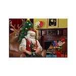 Santa's Dobie (Bz) Rectangle Magnet