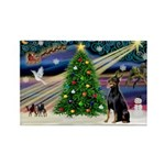 XmasMagic/Dobie (1) Rectangle Magnet