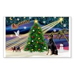 XmasMagic/Dobie (1) Sticker (Rectangle 10 pk)