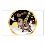 Night Flight/2 Eng Bulldogs Sticker (Rectangle 10