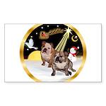 Night Flight/2 Eng Bulldogs Sticker (Rectangle)