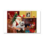 Santa's white EBD Car Magnet 20 x 12