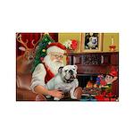 Santa's white EBD Rectangle Magnet (10 pack)