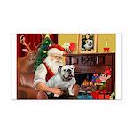 Santa's white EBD Rectangle Car Magnet