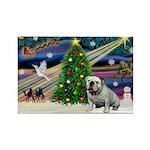 Xmas Magic & Bulldog Rectangle Magnet (10 pack)