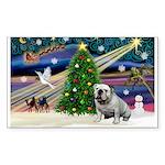 Xmas Magic & Bulldog Sticker (Rectangle)