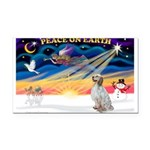 XmasSunrise/Eng Setter Rectangle Car Magnet