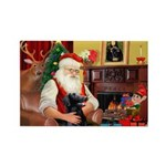 Santa's Flat Coat R Rectangle Magnet