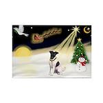 Night Flight/Fox Terrier Rectangle Magnet (10 pack