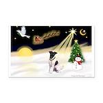 Night Flight/Fox Terrier Rectangle Car Magnet