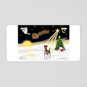 Night Flight/Fox Terrier 5 Aluminum License Plate