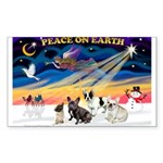 XmasSunrise/4 Fr Bulldogs Sticker (Rectangle)