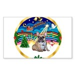 XmasMusic 3/Fr Bulldog #16 Sticker (Rectangle 50 p