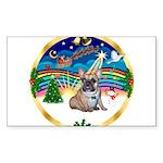 XmasMusic 3/Fr Bulldog #16 Sticker (Rectangle)