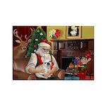Santa's French BD (1) Rectangle Magnet