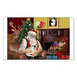 Santa's French BD (1) Sticker (Rectangle)