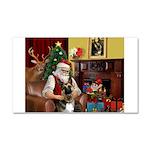Santa's G-Shepherd (#2) Car Magnet 20 x 12