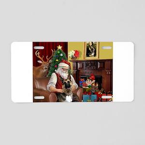 Santa's G-Shepherd (#2) Aluminum License Plate