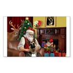 Santa's G-Shepherd (#2) Sticker (Rectangle 10 pk)