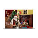 Santa's G-Shepherd (#2) Rectangle Car Magnet