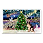 XmasMagic/G Shepherd 2 Sticker (Rectangle 50 pk)