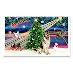 XmasMagic/German Shepherd Sticker (Rectangle 50 pk