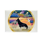 XmasStar/German Shepherd Rectangle Magnet (10 pack
