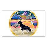 XmasStar/German Shepherd Sticker (Rectangle)