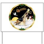 Night Flight/German Shepherd Yard Sign
