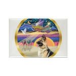 XmasStar/ German Shepherd Rectangle Magnet (10 pac